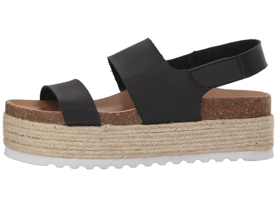 d9b3269186 Dirty Laundry Peyton Platform Sandal Women's Wedge Shoes Black Smooth