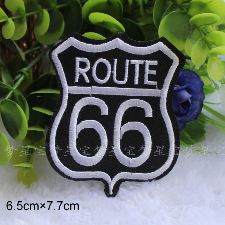 New to craftapplique on Etsy: 66 route 66 embroidery patch Embroidery patches patch Embroidered patch iron on patch sew on patch 7.76.5cm  A140 (2.30 USD)