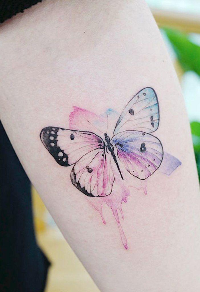 Beautiful Watercolor Butterfly Forearm Tattoo Ideas For Women Hermosas Acuarel Mariposas Para Tatuar Inspiracion Para Tatuaje Tatuajes Delicados Femeninos