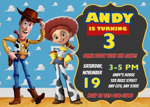 Toy Story Invitation Toy Story Invite Disney Pixar Toy Story