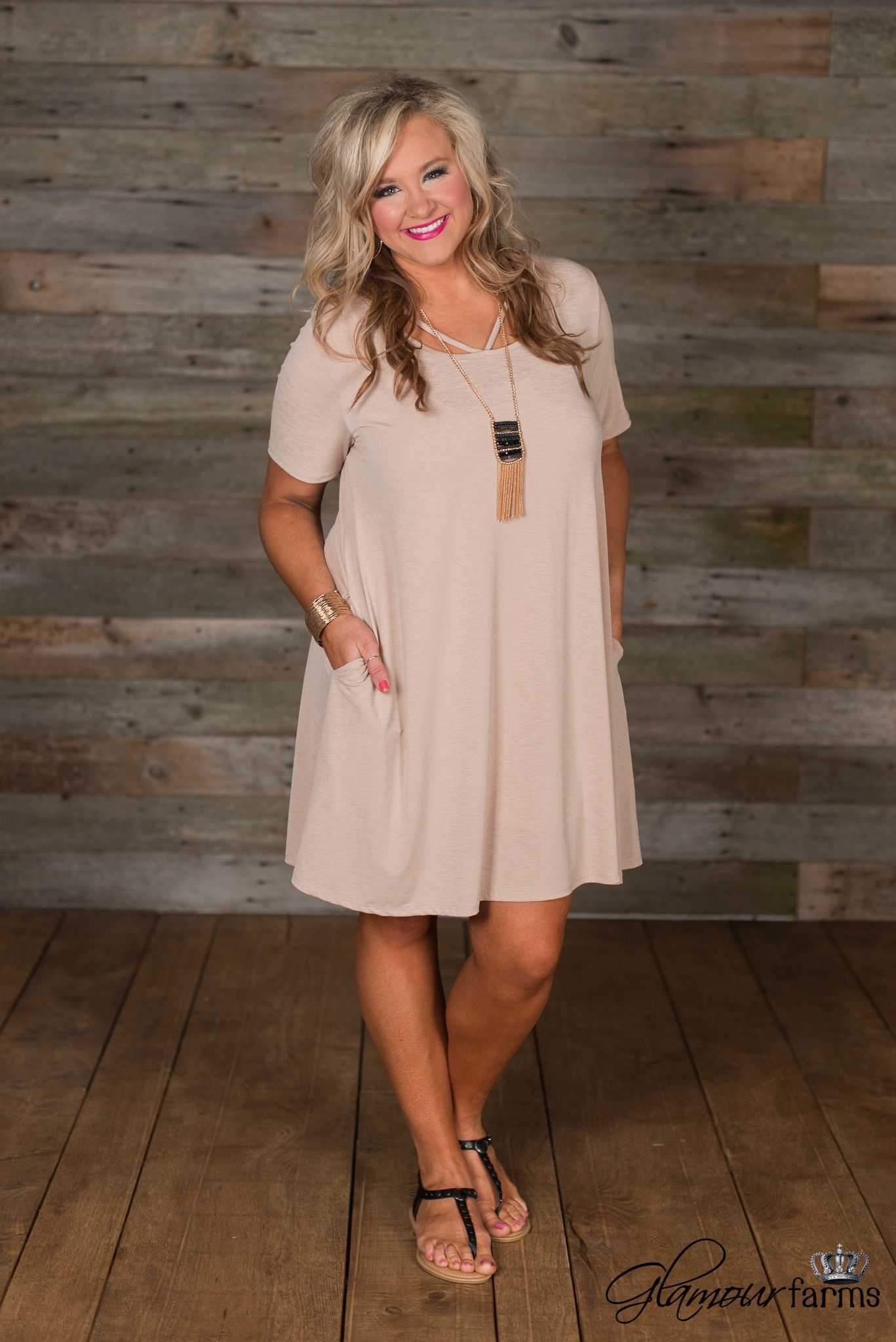 Curvy carybell cutout tunicdress taupe products pinterest