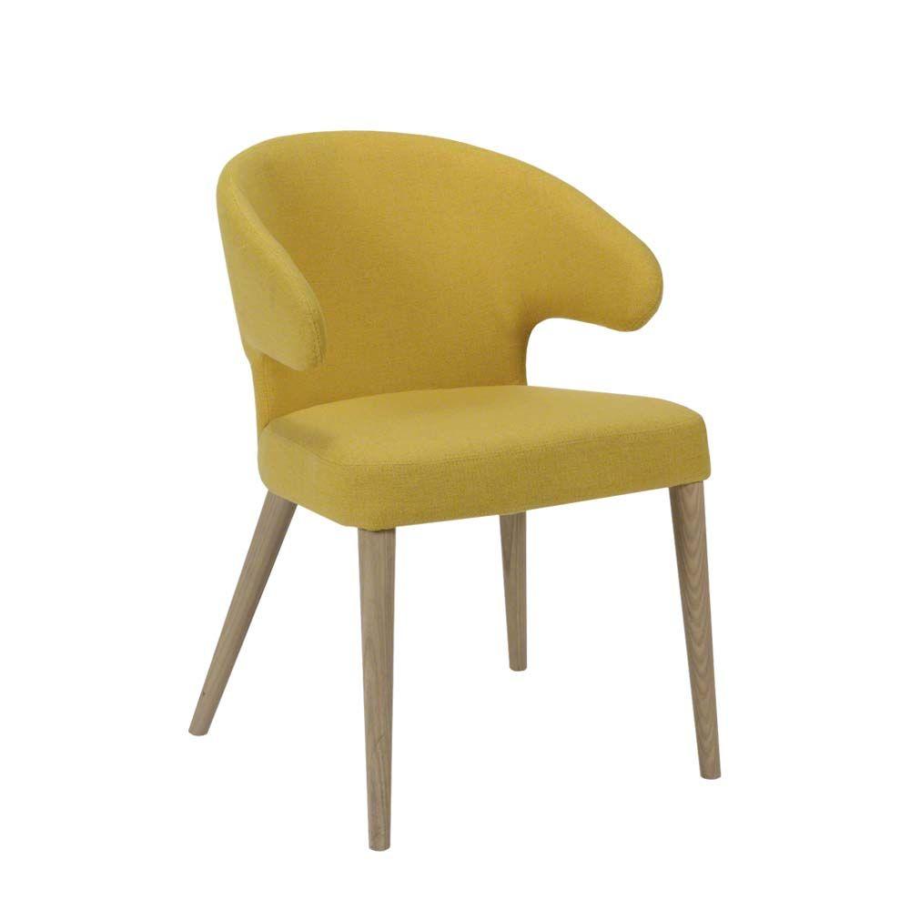 Stuhl Set in Gelb Stoff Eiche Massivholz (2er Set) Jetzt bestellen ...