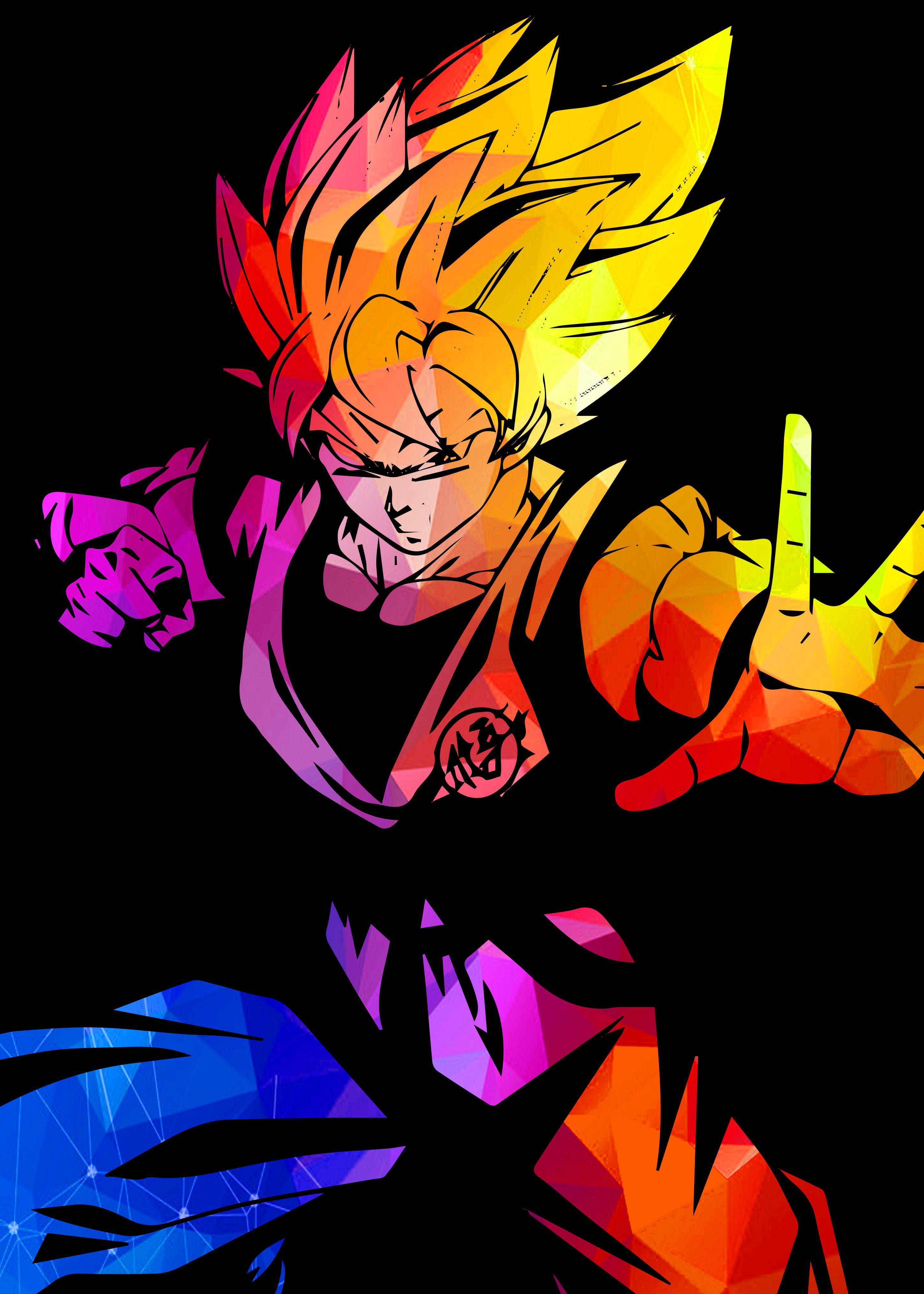 Goku Supersaiyan In 2020 Metal Posters Poster Making Metal Posters Design