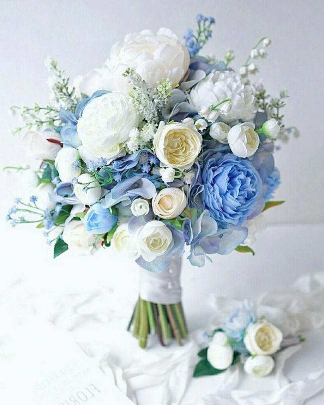40 Chic Blue Wedding Bouquet Ideas Colors For Wedding Part 3 Blue Wedding Bouquet Blue Wedding Flowers Wedding Bouquets