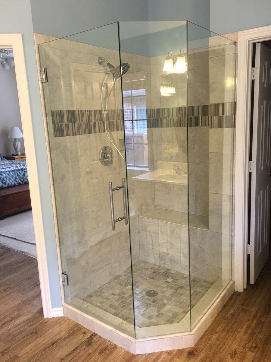 Neo Angle Frameless Shower With A Door And 2 Panels Chrome 8