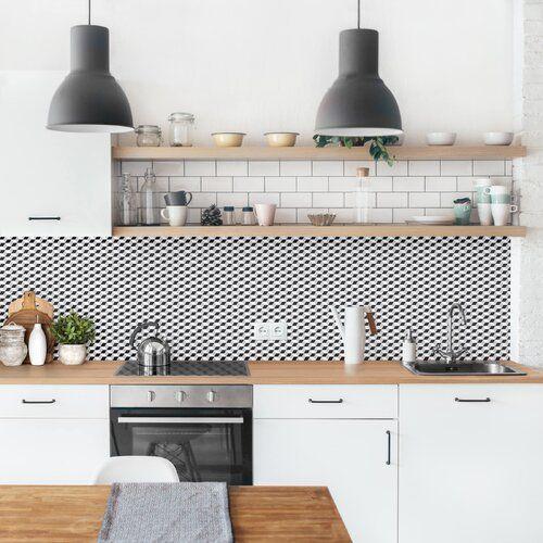 Photo of Ebern Designs Hart-Kunststofffolie Spritzschutzpaneel Selbstklebend Würfel Augusta | Wayfair.de