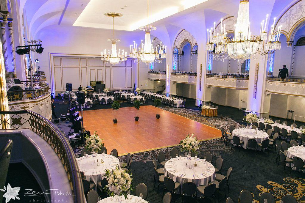 Beautiful Wedding Reception In The Grand Ballroom At Boston Park