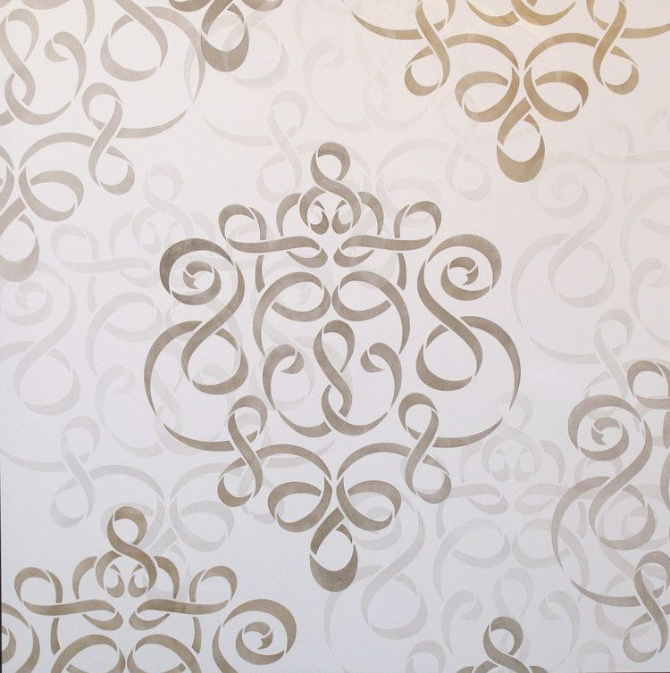 large wall stencil ribbon damask stencil royal design studio