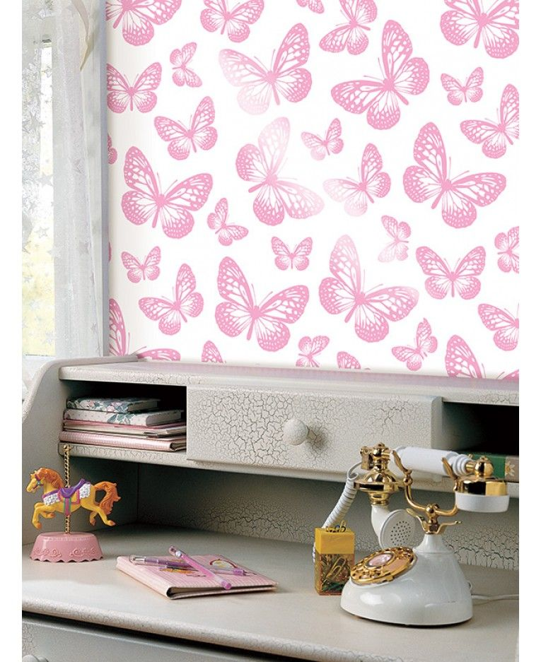 Butterfly White And Pink Wallpaper 10m Fine Decor Fd40275 Room
