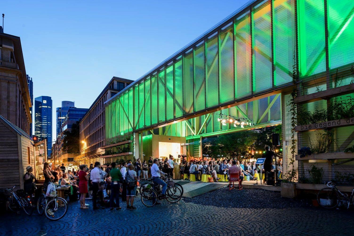 garten frankfurt, zukunftspavillon am goetheplatz – mitmachen für ein grünes frankfurt, Design ideen