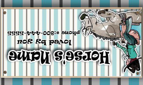 Western Reiner Horse Stall Sign