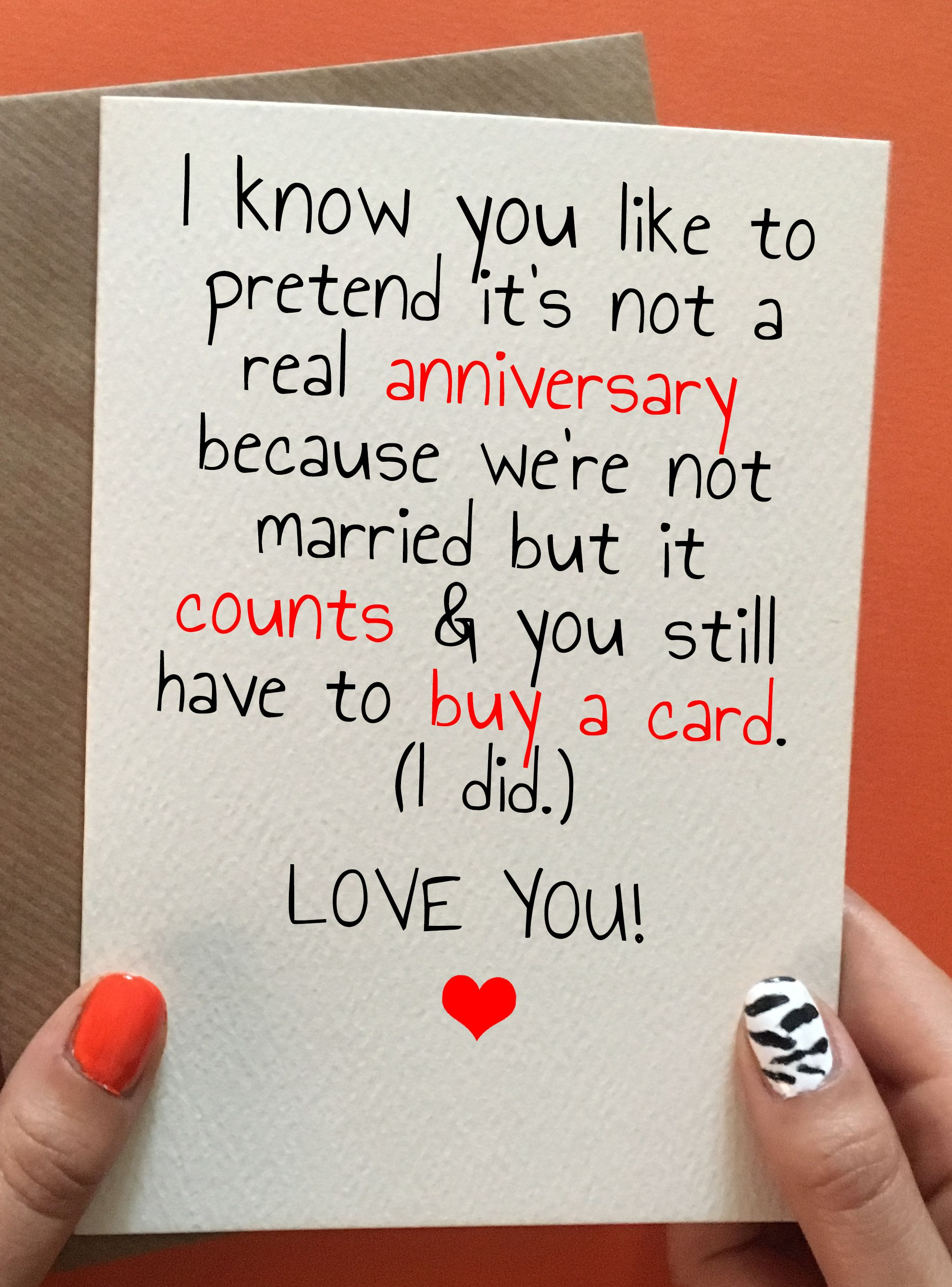 No Excuse Anniversary cards for boyfriend, Cards for