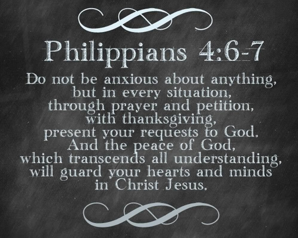 Image result for Philippians 4:6=7""