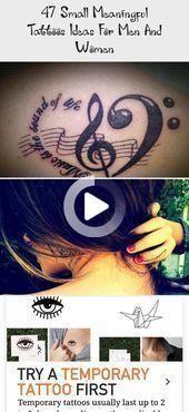 47 piccole idee tatuaggi significativi per gli uomini e le donne #meaningfultattooBible … – 47