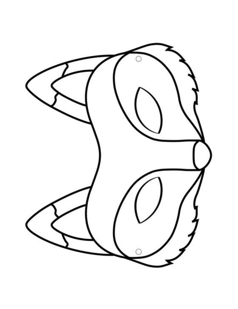 Maski Lisy Lwy Tygrysy Karnawal Maski Karnawalowe Swiatowy Dzien Zwierzat Wycinanki Fox Coloring Page Fox Mask Animal Mask Templates