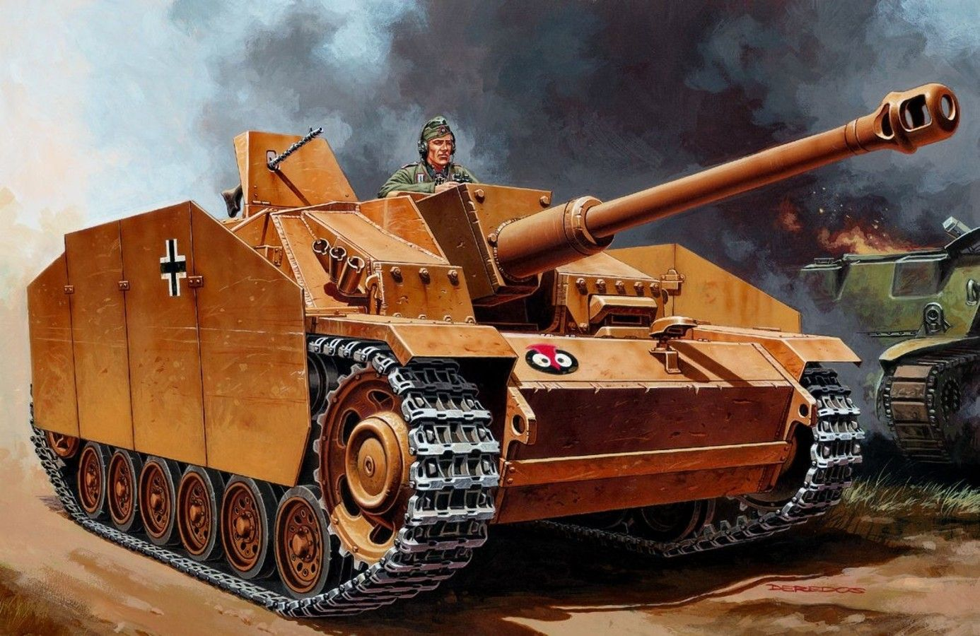 StuG III Ausf G - Andrzej Deredos - box art Italeri