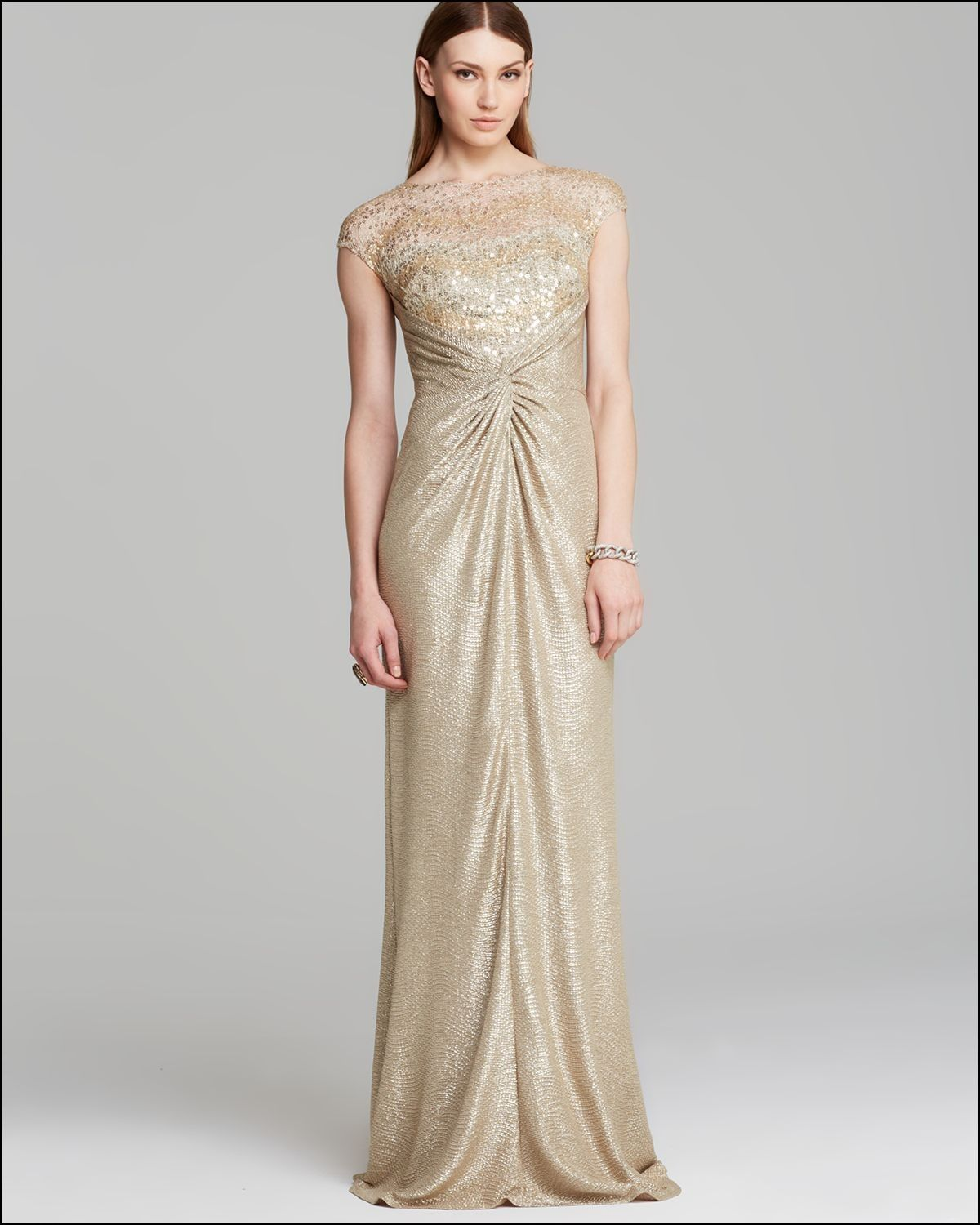 David Meister Gold Gown | Special occasion dresses | Pinterest ...