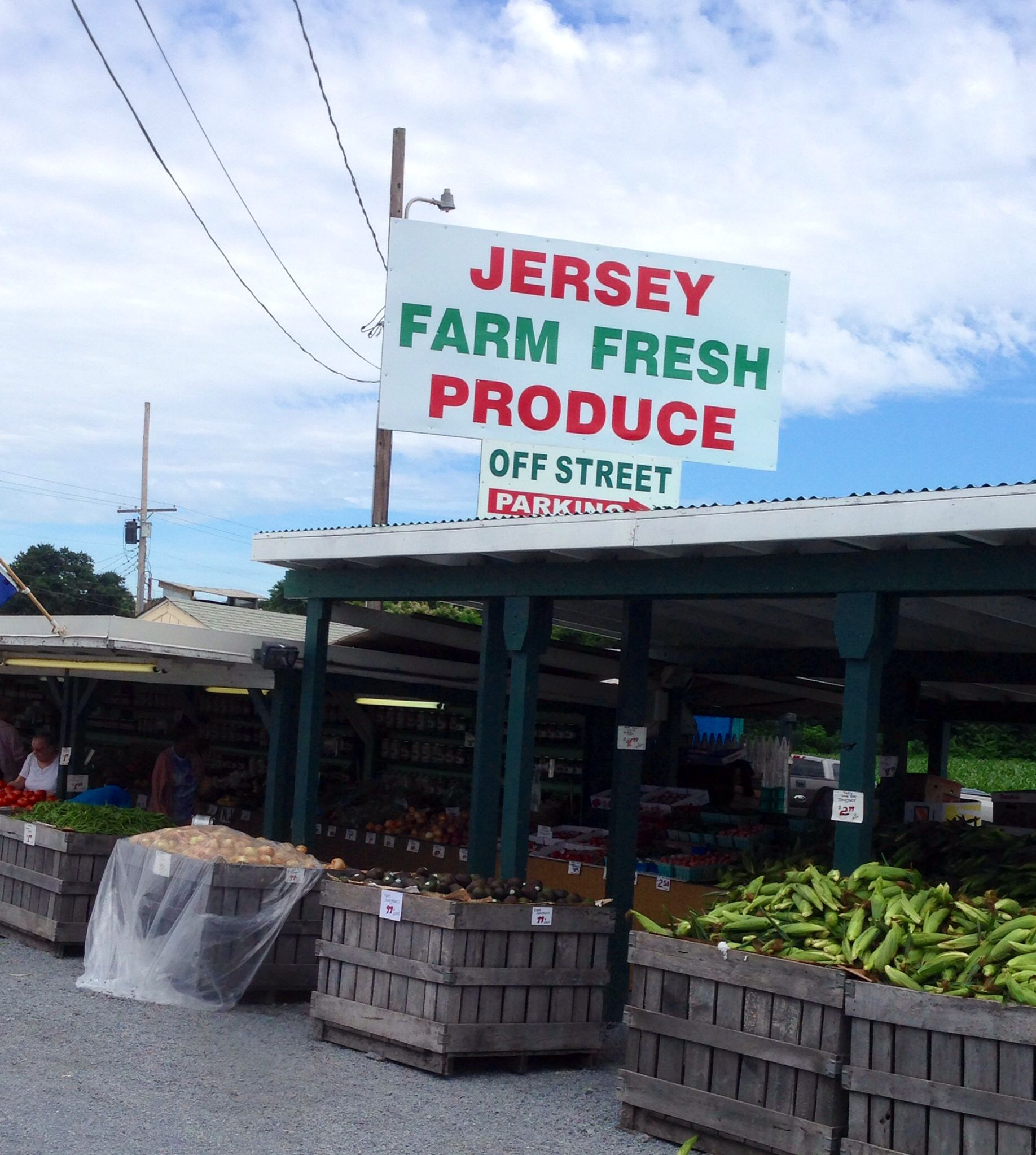 Jersey Fresh Farm Stands....NJ used to be called the