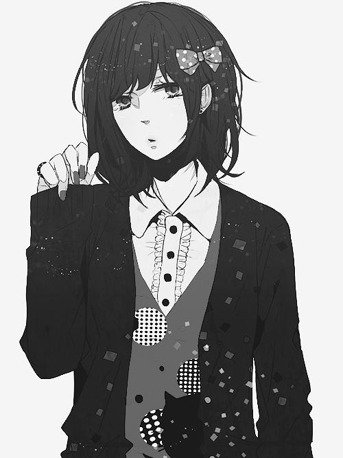 Animegirl Monochrome Kawaii Images Anime Art Anime Monochrome