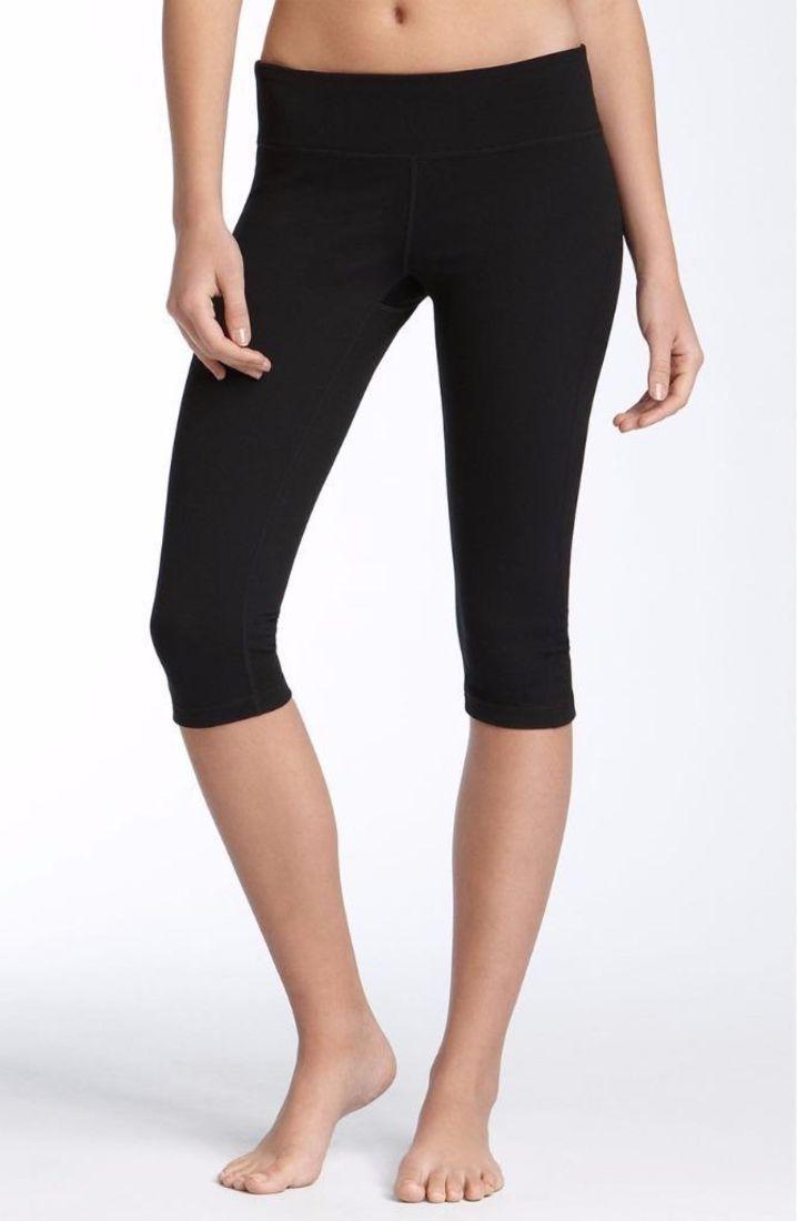 ZELLA Streamline Black Crop Leggings Workout Small $58 FTC #4294