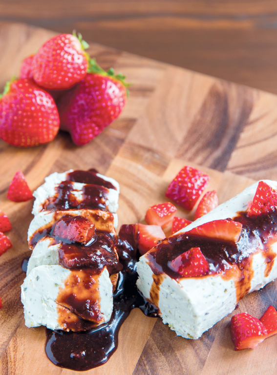 Kristine's Balsamic Citrus Spice Strawberry Reduction | Edible Feast via Edible Sarasota #ediblekitchen