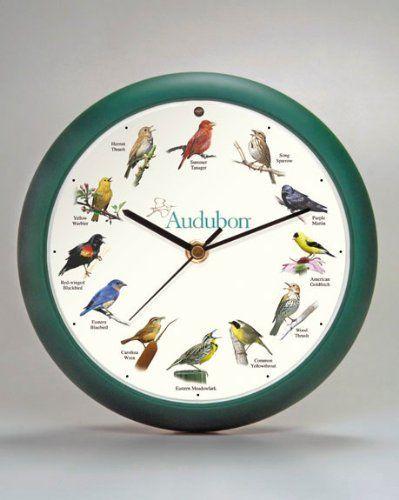 Pin By Virginia Eversole On Clocks Green Wall Clocks Clock Audubon Birds