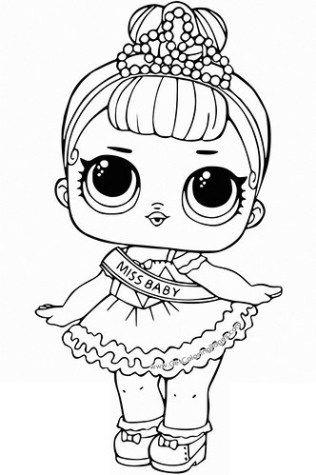 Dibujos De Muñecas Lol Surprise Para Colorear E Imprimir