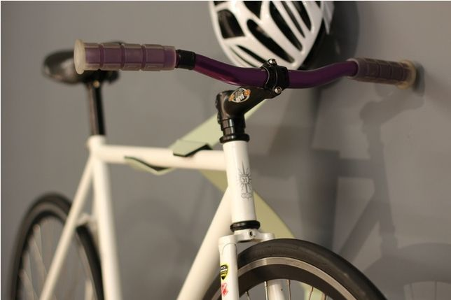 10 Ways To Hang Your Bike On The Wall Like A Work Of Art Bike Wall Mount Art Furniture Bike Hanger