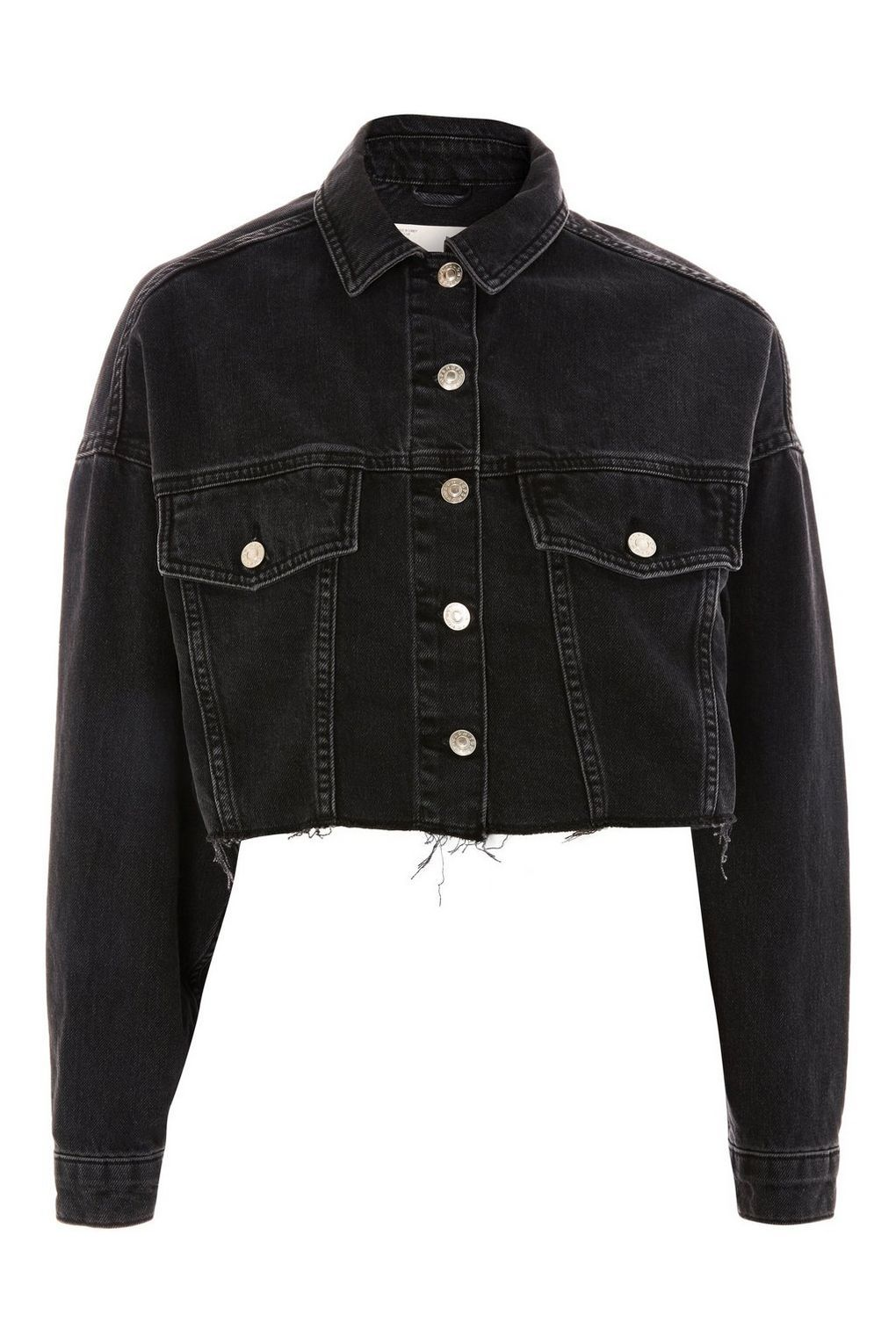 Hacked Off Cropped Denim Jacket  Denim  Clothing is part of Aesthetic Clothes Jackets - Hacked Off Cropped Denim Jacket