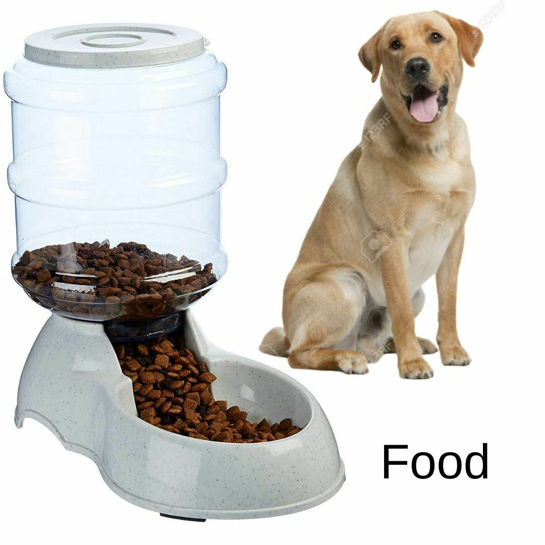 Details About Small Dog Food Dispenser Storage Container Pet Cat