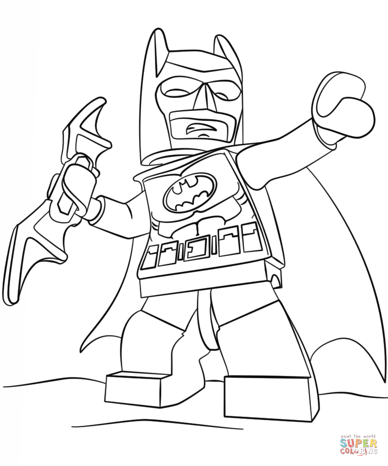 Lego Batman coloring page | kids colouring in pages | Pinterest ...