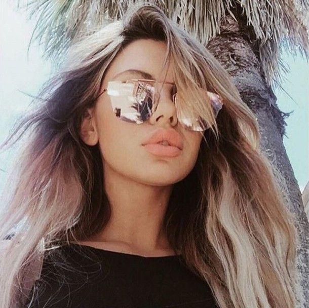 7f054c68378 Rose gold mirrored sunglasses