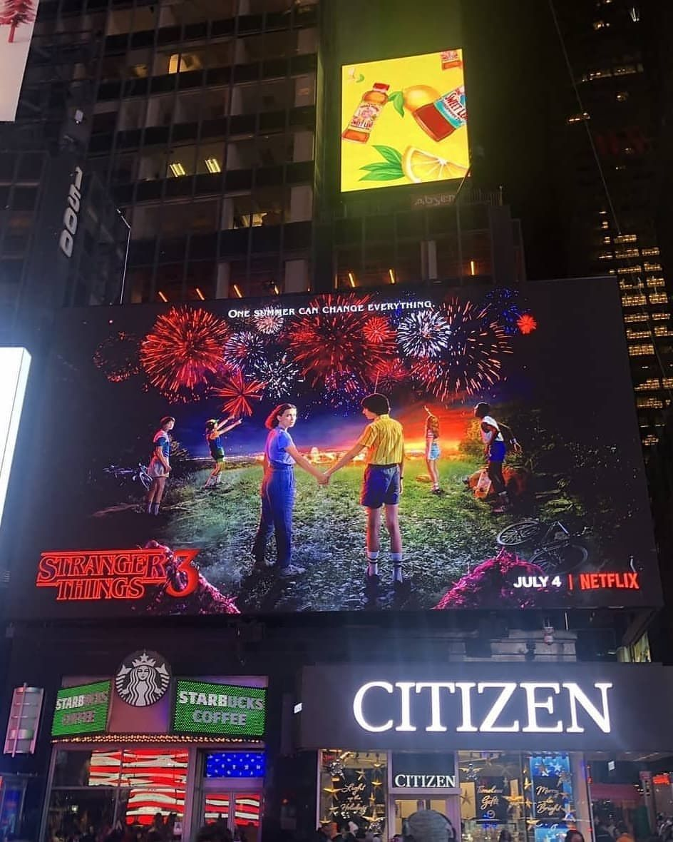 Stranger Things 3 at New Year's Eve Party in Times Square
