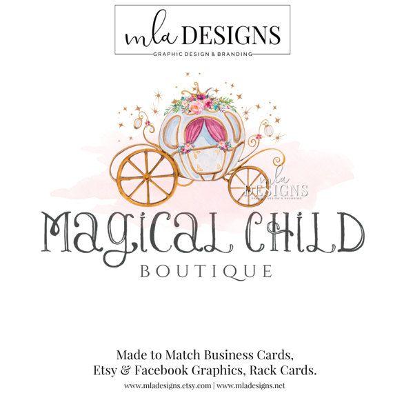 Carriage Logo Princess Logo Boutique Logo Floral Logo Logos