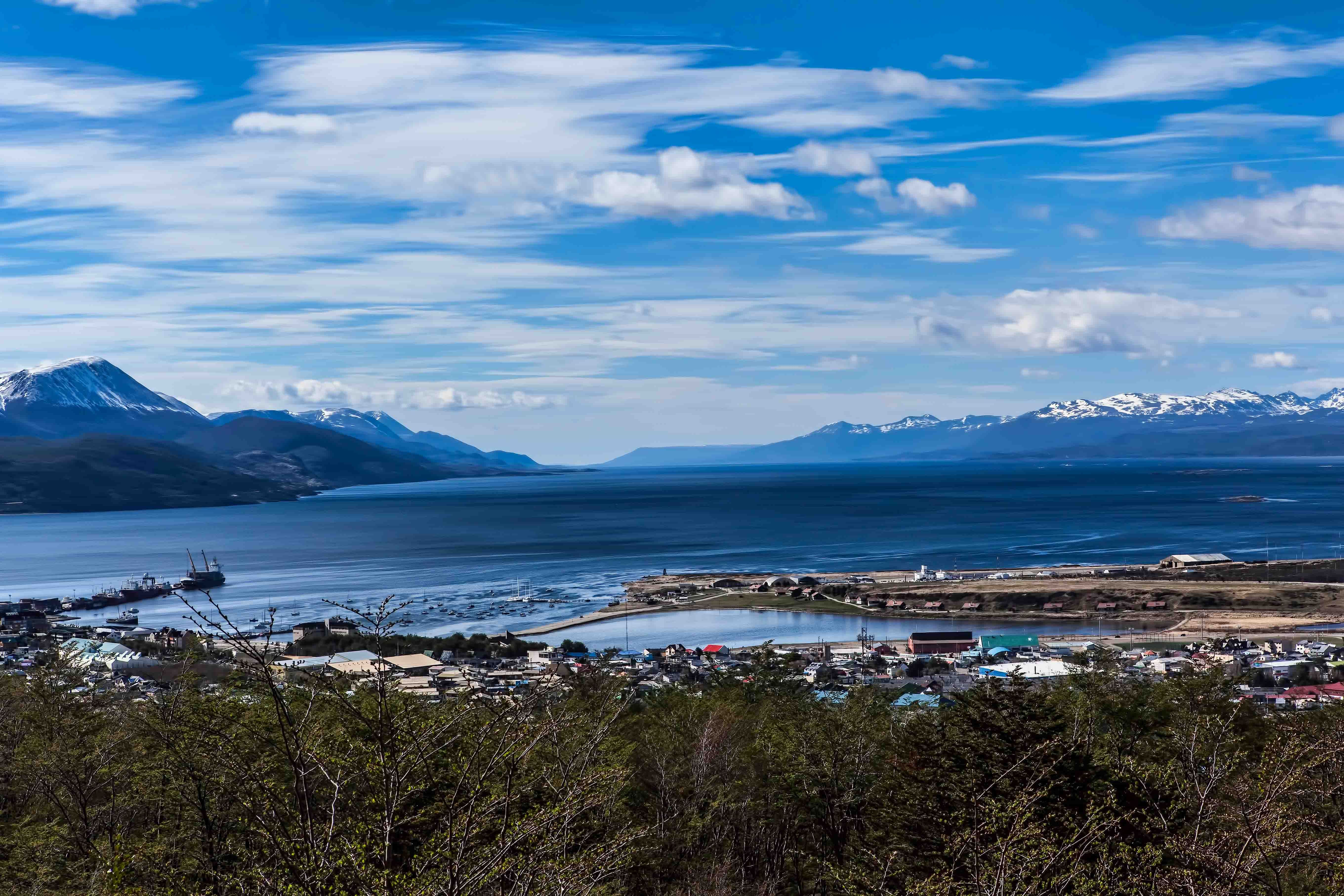 Amazing View Of Beagle Channel From Ushuaia Tierra Del Fuego