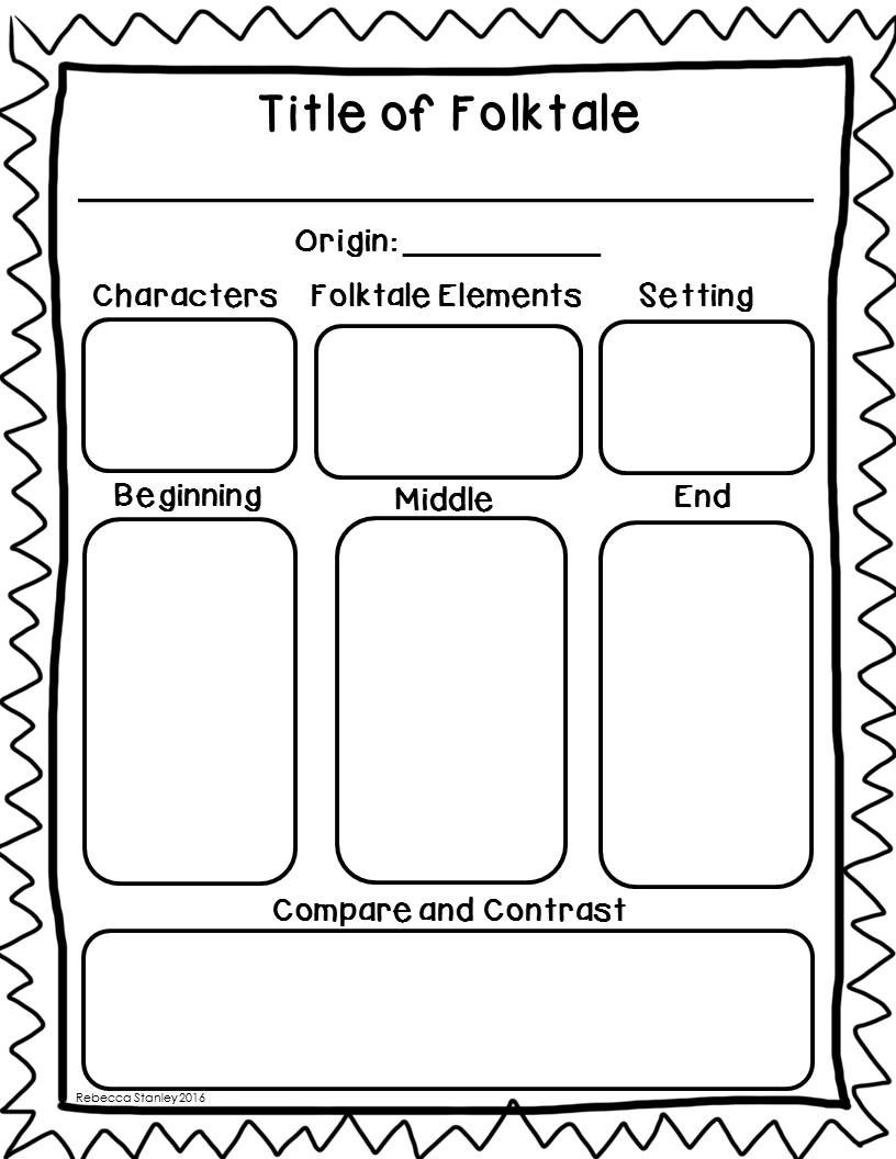 elements of writing a folk tale graphic organizer