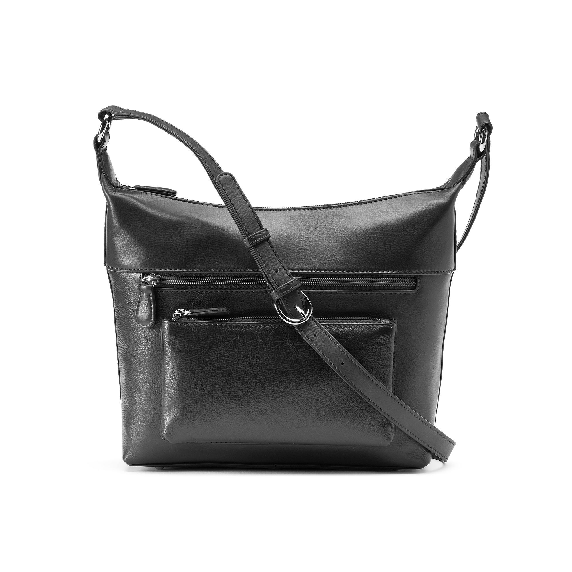 21a1709651 ili Leather Front Pocket Crossbody Bag