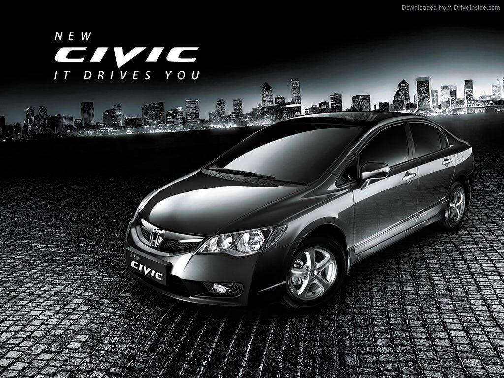 BlackNewHondaCivicCarsWallpaperHd Honda civic car