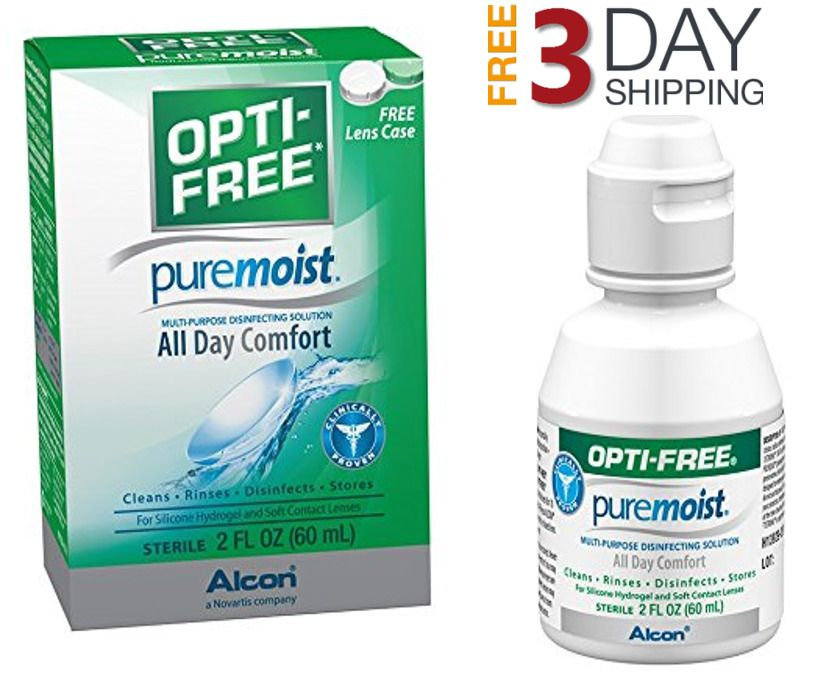 2oz For Silicone Hydrogel And Soft Contact Lenses Opti Free Pure
