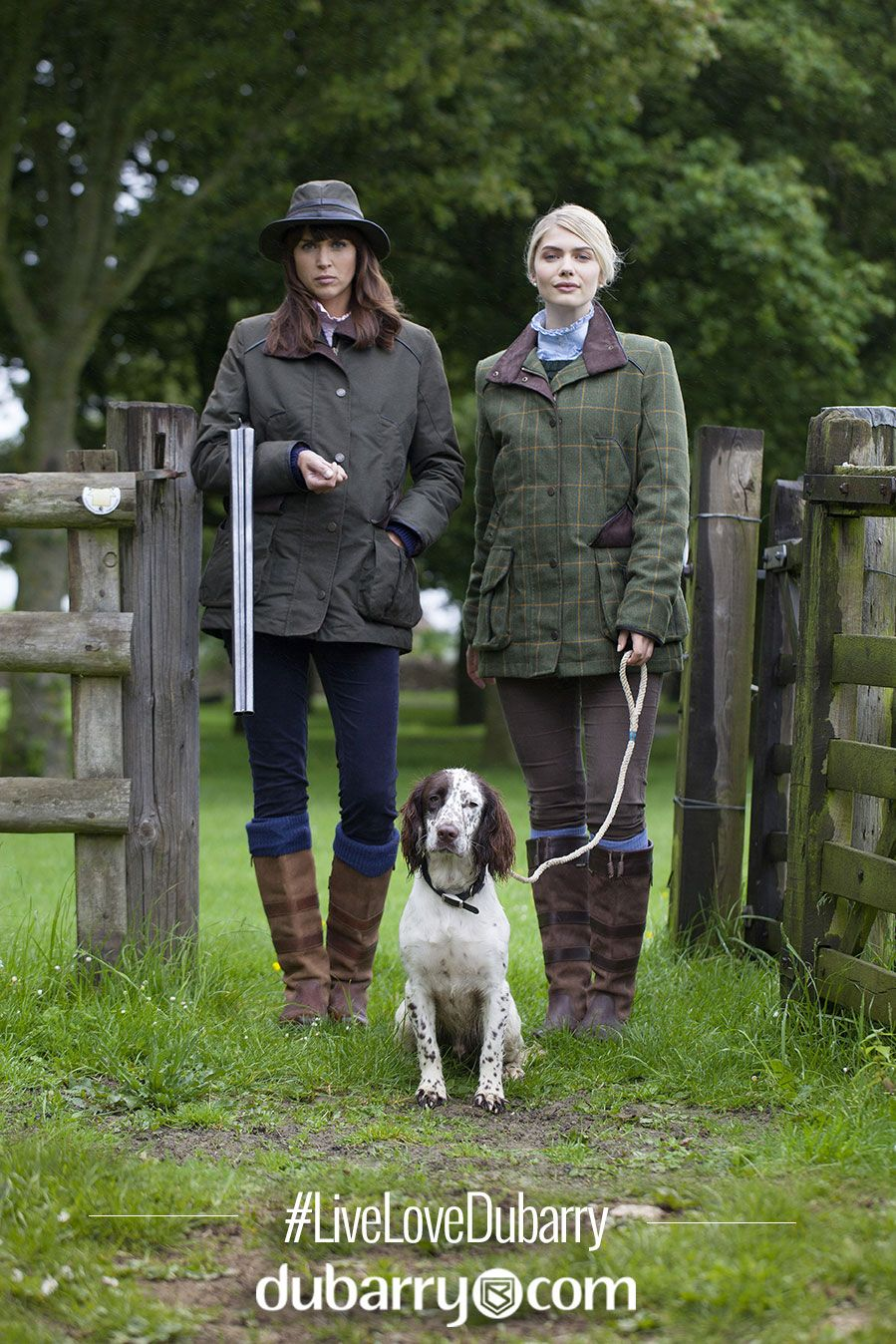 The New Dubarry Collection #OOTD. #LiveLoveDubarry outdoors in the stylish waterproof jackets for women.
