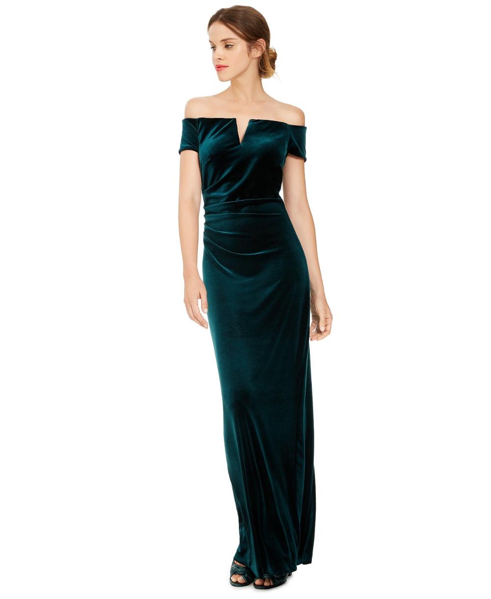 Xscape Velvet Off The Shoulder Gown Reviews Dresses Women Macy S Velvet Bridesmaid Dresses Review Dresses Womens Dresses [ 1219 x 1000 Pixel ]