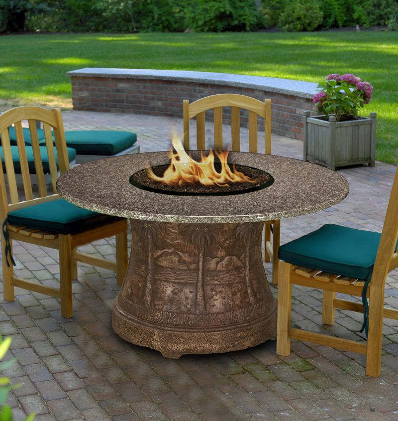 Palm Dining Height Fire Pit Table Fire Pit Table Outdoor Fire Pit Table Fire Pit