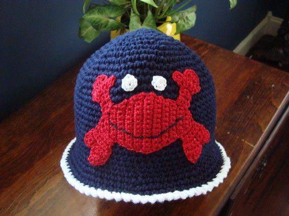 Cute crochet crab hat! | hats | Pinterest