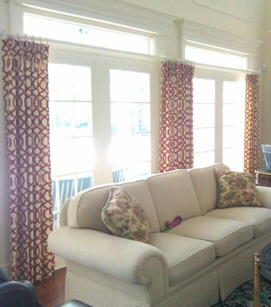 Hang drapes below the transome to show off moulding ...