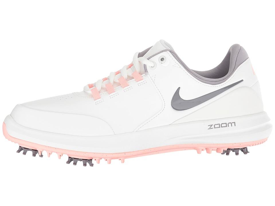 33d539508e7a Nike Golf Air Zoom Accurate Women s Golf Shoes Summit White Gunsmoke Bleached  Coral