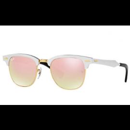 7da6299154 Ray Ban Clubmaster Aluminum Flash Lenses Gradient RB3507 sunglasses –  Silver Frame   Copper Gradient Flash Lens