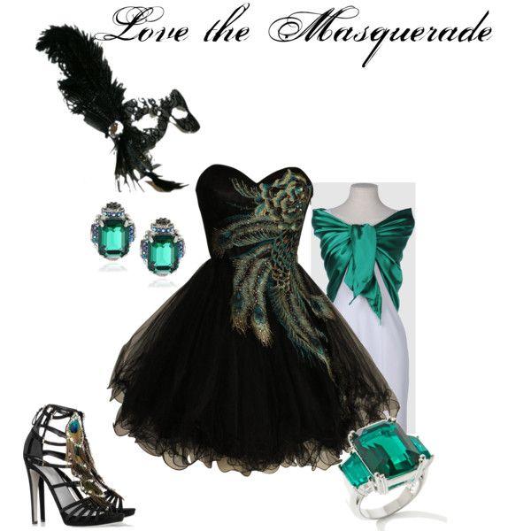 Sexy masquerade ball outfit.