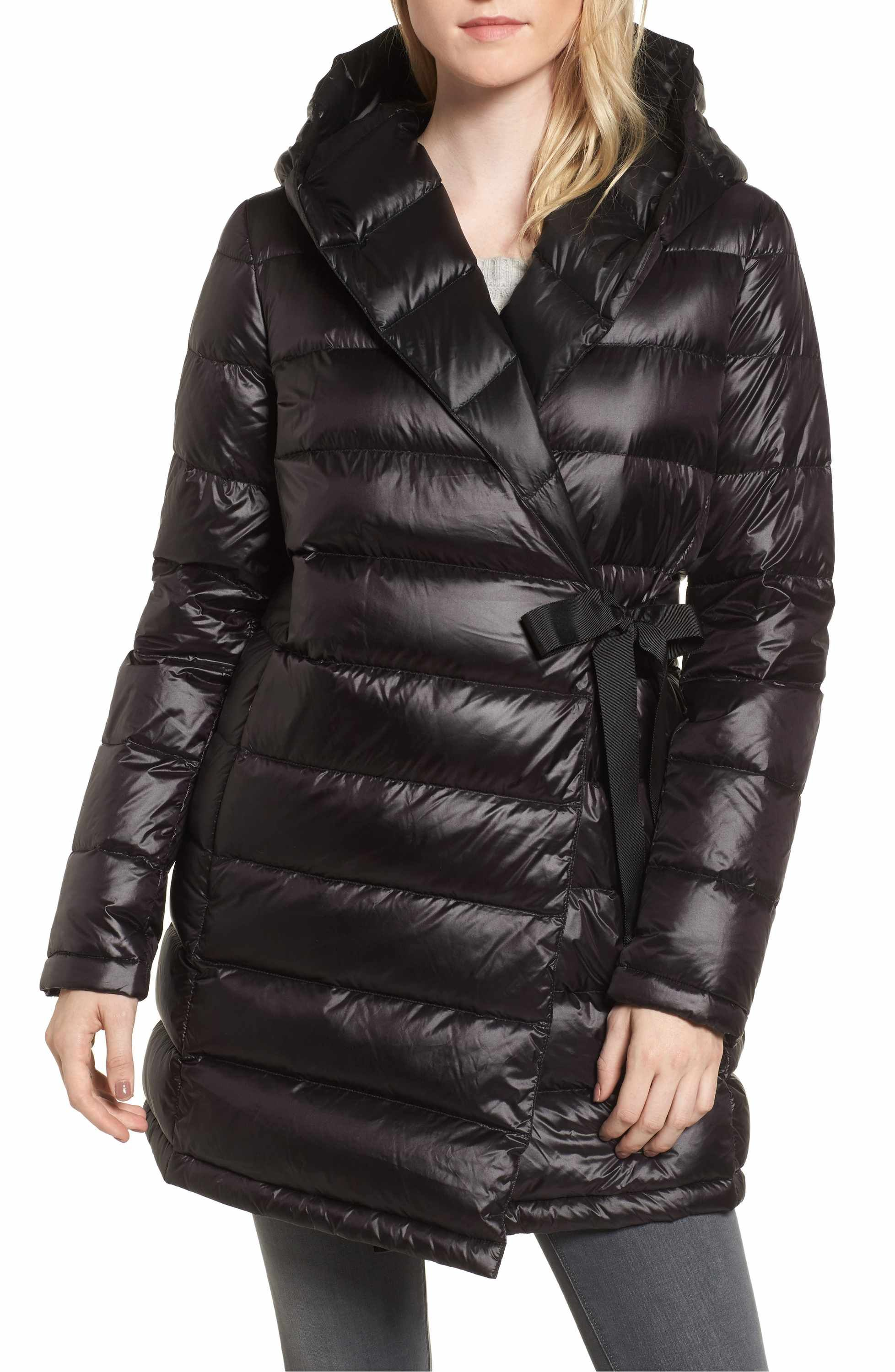 Dkny Water Resistant Packable Down Parka With Tie Closure Nordstrom Puffer Coat Down Puffer Coat Down Parka [ 3000 x 1956 Pixel ]