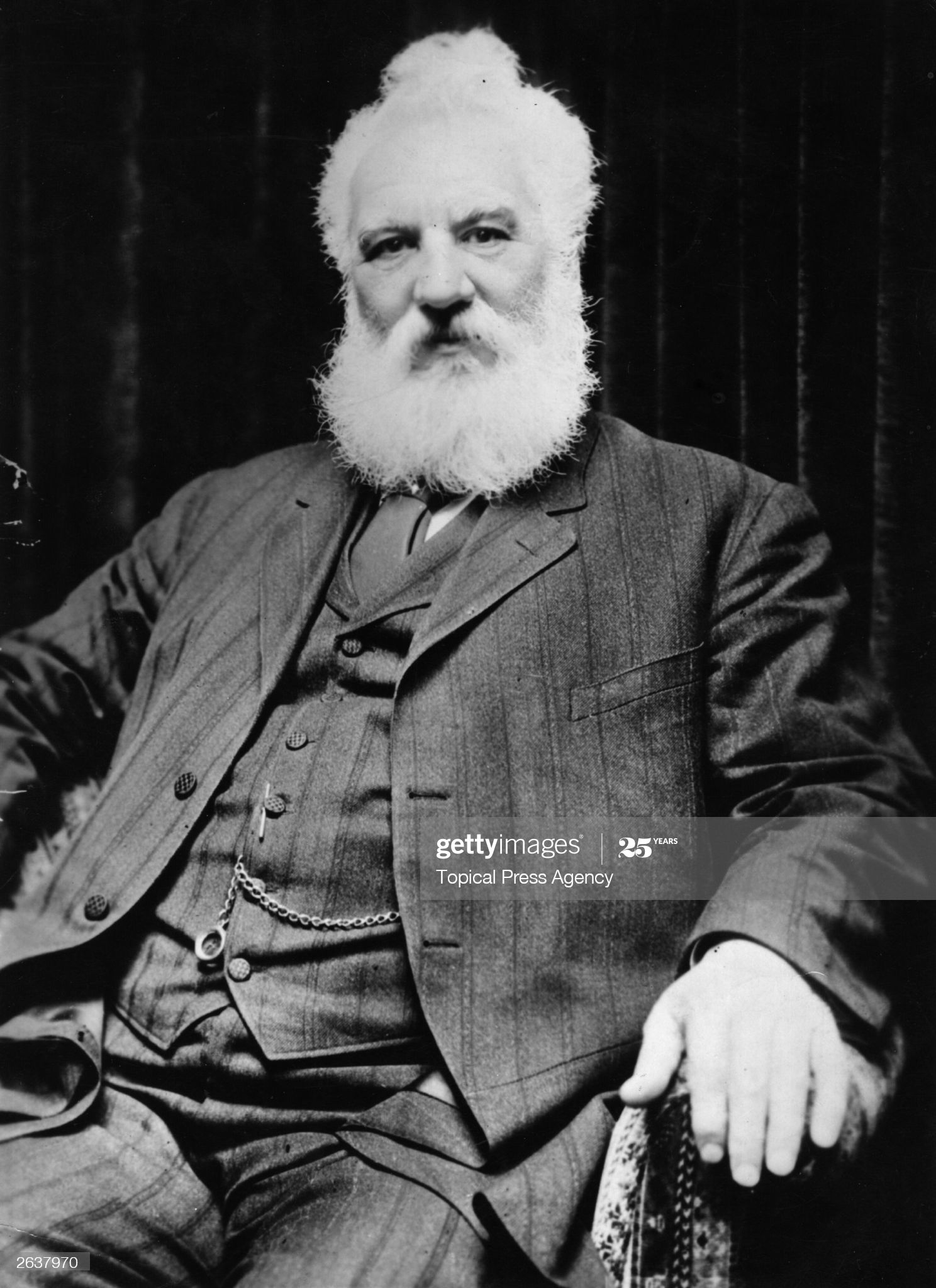 News Photo Scottish Inventor Alexander Graham Bell Who