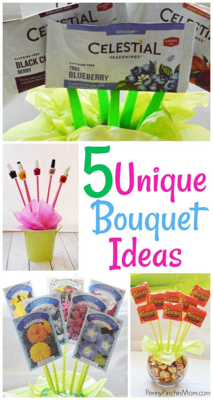 Easy Non-Floral Bouquet Ideas! #grandparentsdaygifts